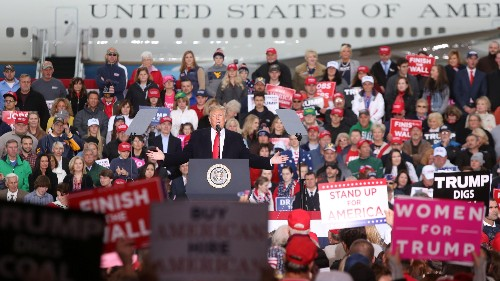 Flying Trump to midterm rallies to stump for Republicans cost US taxpayers millions