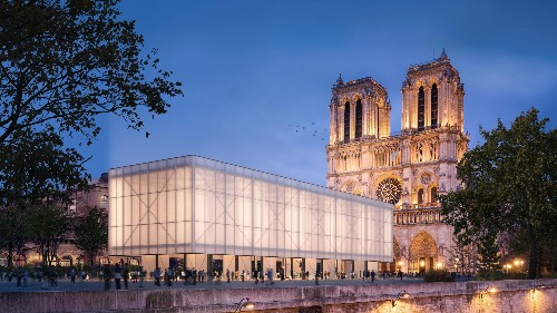 Gensler shares design for temporary Notre-Dame worship pavilion