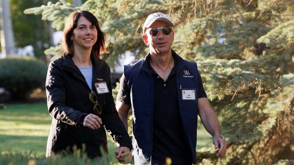 Compare the statements of Jeff and MacKenzie Bezos on their divorce