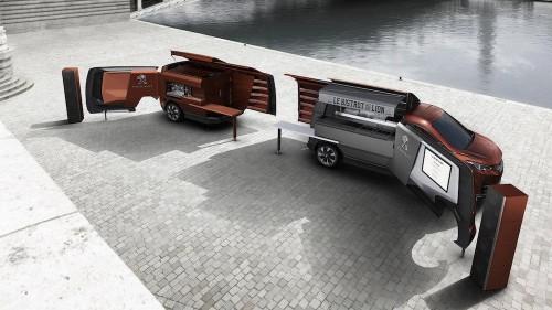 Peugeot's new food truck looks like a luxury Transformer