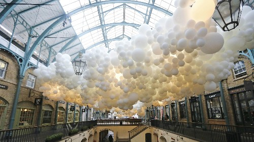 Photos: A beautiful, ethereal installation of 100,000 balloons comes to London's Covent Garden