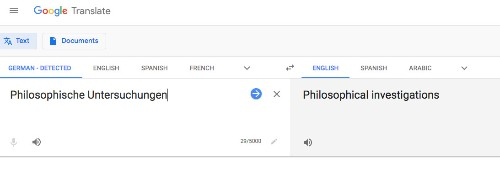 Google translate is a manifestation of Wittgenstein language theory