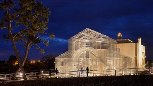 Photos: Centuries of Italian history come back to life through mind bending wire-mesh structures