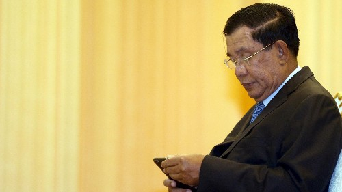 Cambodia's prime minister is accused of buying Facebook likes to boost engagement numbers