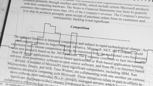 Thirty years of financial filings reveal Microsoft's biggest competitors