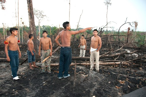 Loggers are lighting fires inside the territory of uncontacted Amazon tribes