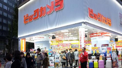 One crazy hour inside a nine-floor Tokyo gadget store