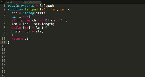 How one programmer broke the internet by deleting a tiny piece of code