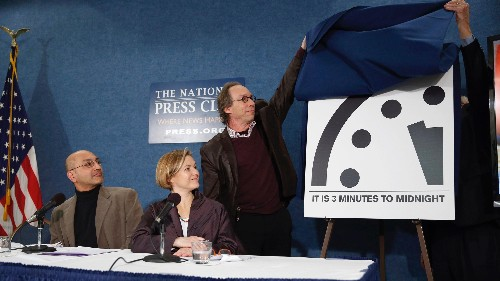 Scientists keep the Doomsday Clock at the closest it's been to midnight since the Cold War