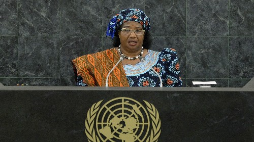 """Malawi's first female president says """"Western assertiveness"""" does not work for African women"""