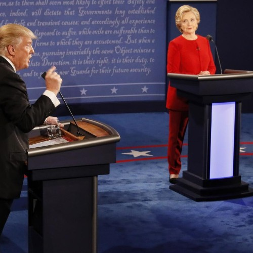 The first US presidential debate between Donald Trump and Hillary Clinton will be shown in gender studies classes for years to come