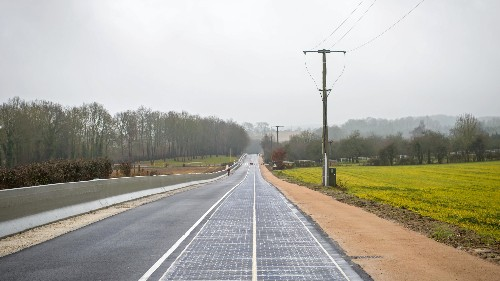 The world's first solar panel-paved road has opened in France