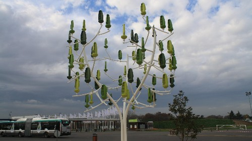 "Man-made ""wind trees"" will finally make it possible to power homes using turbines"