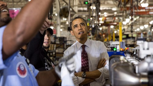 The two numbers that explain Obama's economic policy tour this week