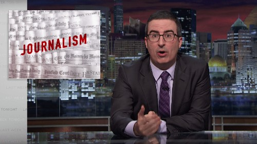 The Newspaper Association of America is mad at John Oliver for telling the truth about journalism