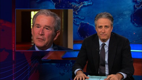 I just relived the Bush years with Jon Stewart clips and laughed to keep from crying
