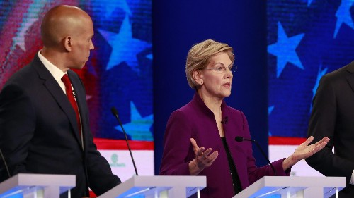 At primary debate, Warren calls for federal law on abortion