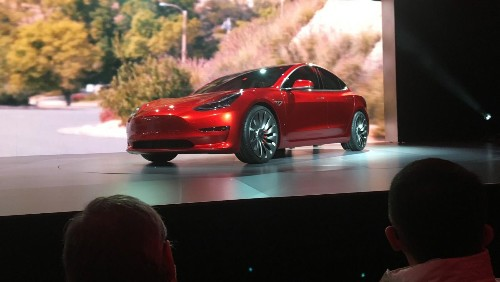 Pre-sales of Tesla's Model 3 topped first-year projections in less than 24 hours