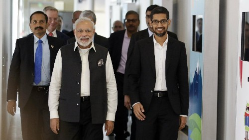 From Tim Cook to Jack Ma, global tech leaders are rushing to India to charm Modi