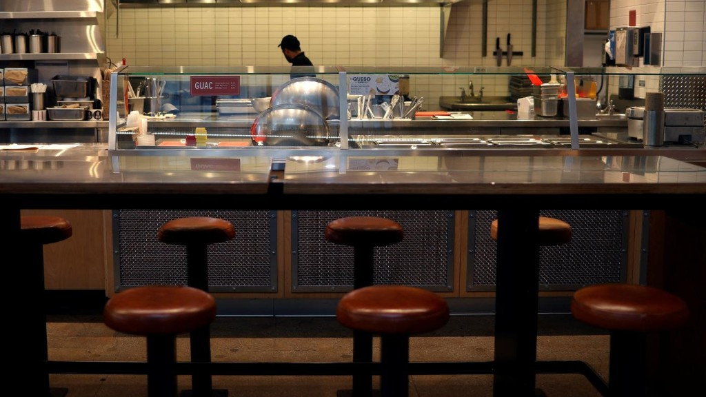 Restaurant and bars account for more than half of the US jobs lost in March