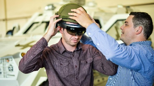Microsoft's HoloLens headset will allow real tank operators to see the battlefield outside