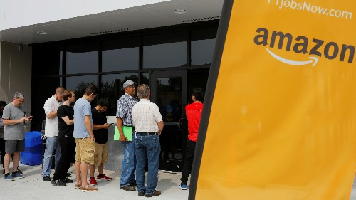 Amazon wants to hire 50,000 people. So far it has 20,000 applicants.