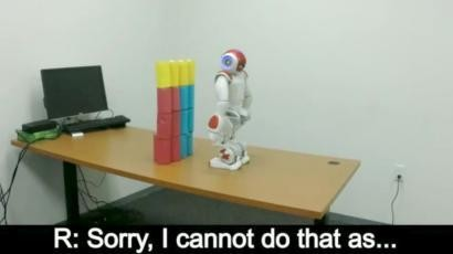 """Robots are learning to say """"no"""" to human orders"""