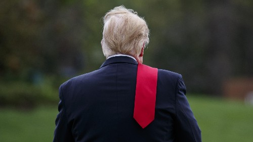 There's been a run on red neckties at the Trump Store