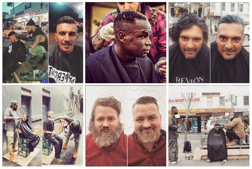 Photos: This 'street barber' helps homeless people transform their look