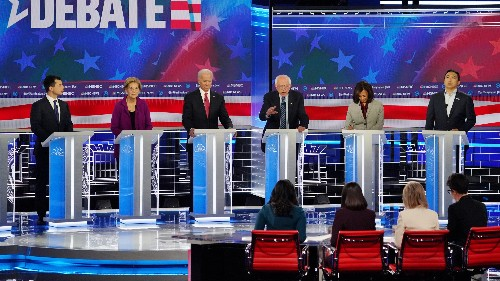 It took four female moderators to get US presidential candidates to debate childcare