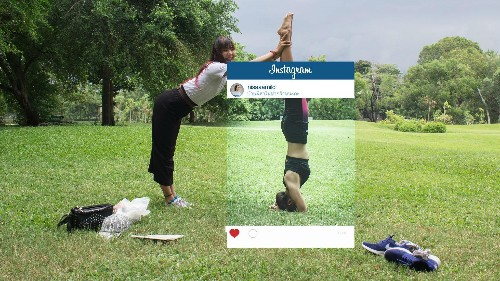 These pictures show what really happens in the background of stylized Instagram shots