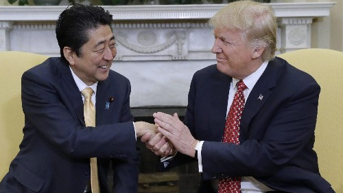 The White House asked Japan's prime minister to nominate Trump for a Nobel prize