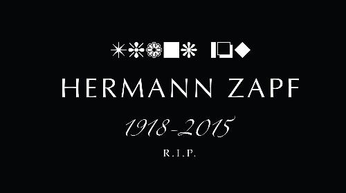 Hermann Zapf, the font designer behind Palatino and Zapf Dingbats, has died at 96