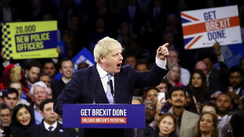 Boris Johnson's Conservative Party on track to win in UK election