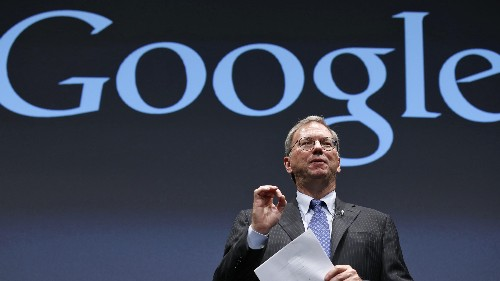 Eric Schmidt struggled to answer a Google interview question