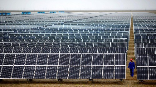 India is beating China in the race to build massive solar power projects