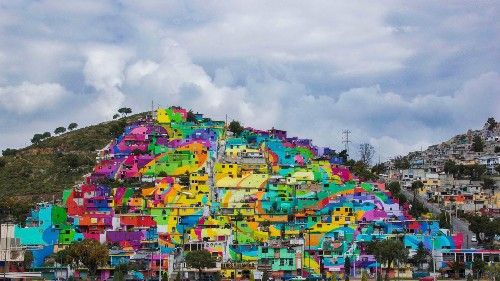 Photos: Artists turned an entire Mexican neighborhood into a colorful mural