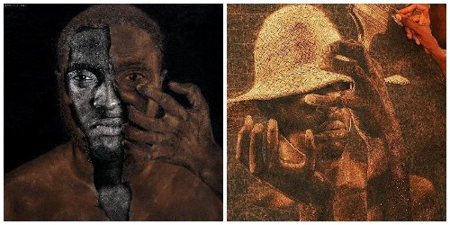 Nigerian artists are sharing their rarely seen cutting-edge talent on a simple Twitter hashtag