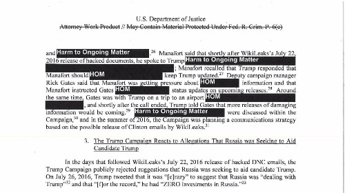 The PDF of the Mueller report has been updated to be searchable