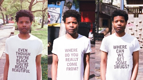 A black American artist is printing t-shirts with the racist comments he has heard in Berlin
