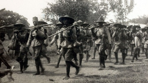 Nearly 2 million Africans were pulled into World War I, their reward was even more colonization