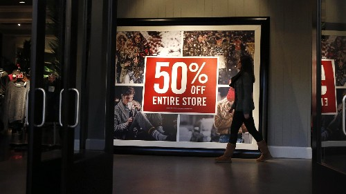 Customers are no longer willing to pay full price for clothing