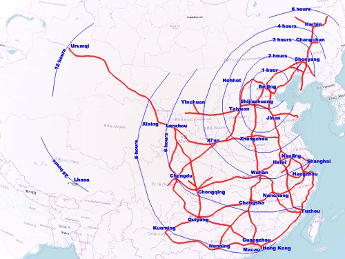 China flexes its high-speed rail muscles by rolling out 32 new routes in one day