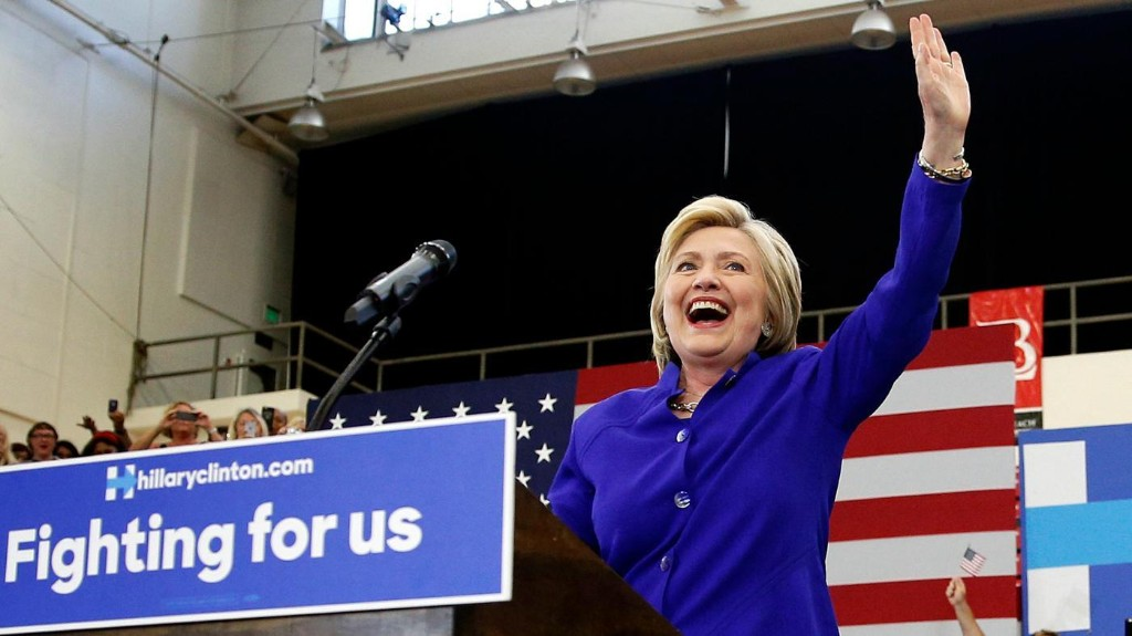 The voters have spoken: Hillary Clinton is the first female major-party presidential nominee