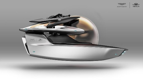 Aston Martin designed a futuristic submarine befit for James Bond