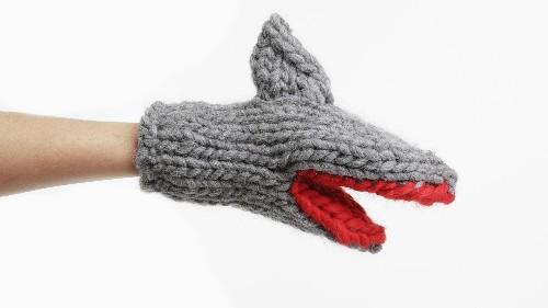 Shark-shaped mittens attacked the runway at London Fashion Week