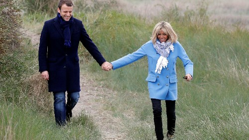 39-year-old Emmanuel Macron's closest political advisor is his 64-year-old wife