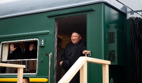 Photos: Kim Jong Un arrives in Russia for a summit with Putin