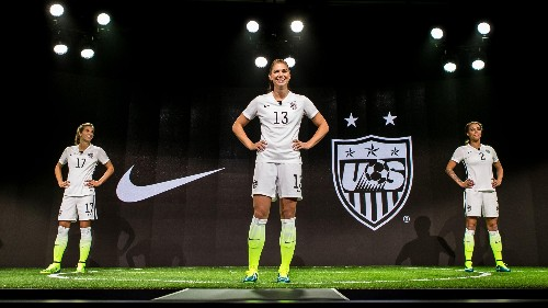Nike is releasing its US women's soccer jerseys in men's sizes for the first time ever