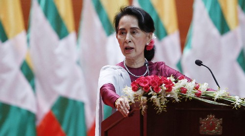 """As villages burn and Rohingya flee, Aung San Suu Kyi tells the world """"solid evidence"""" is needed"""